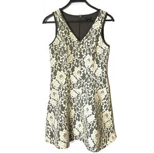 Club Monaco Lace Overlay Wool Blend Dress